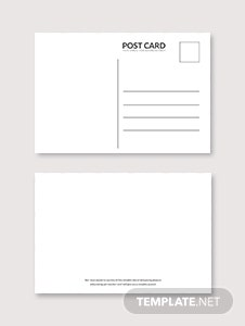 Blank White Index Postcard Template