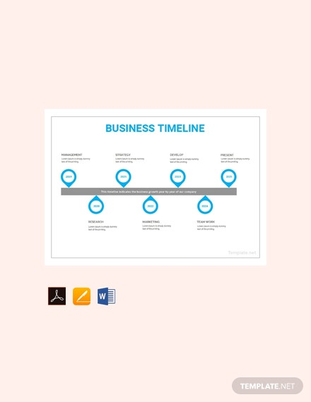 free business timeline template download 113 charts in word pdf