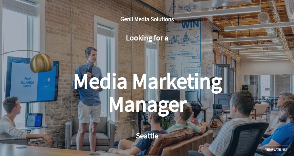 Media Marketing Manager Job Description Template