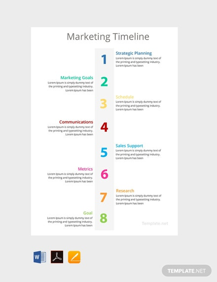 free marketing timeline template download 113 charts in word pdf