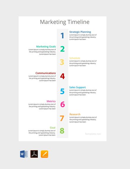 Free Marketing Timeline Template