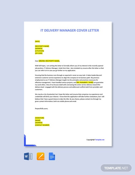 Free IT Security Manager Cover Letter Template