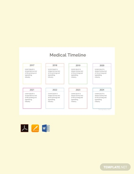 free medical timeline template 440x570 1