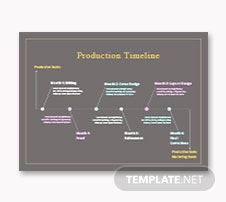 Production Timeline Template