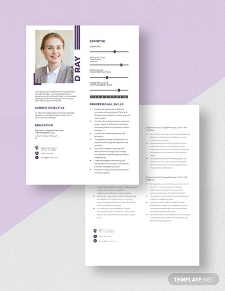 Organizational Change Manager Resume Download