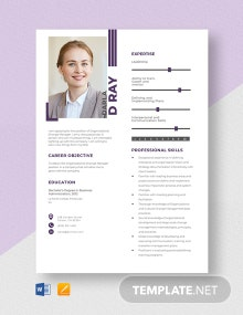 Organizational Change Manager Resume Template