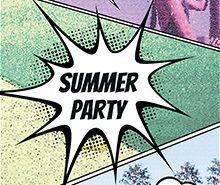 Comic Summer Flyer Template