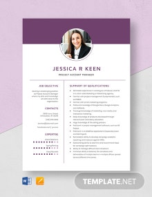 Project Account Manager Resume Template