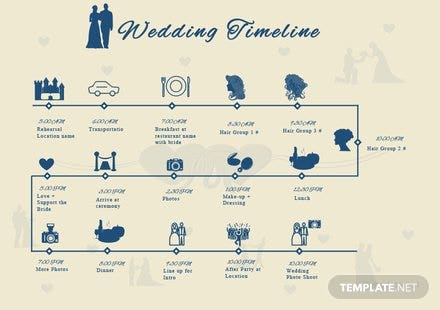 Free Wedding Timeline Template