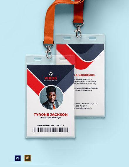 Custom Investigator ID Card Template