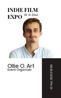 Event organizer ID Card Template