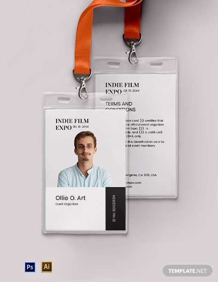Event organizer ID Card Template