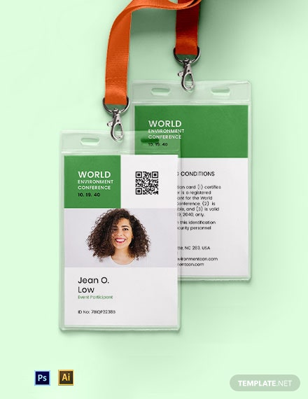 Event Participant ID Card Template