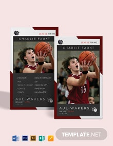 NBA Trading Card Template