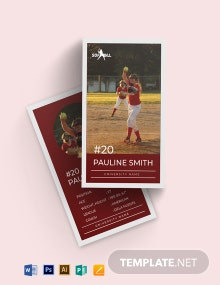 Softball Trading Card Template