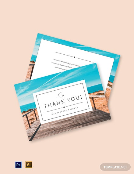 Travel Thank You Card Template