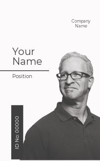 Vertical Blank ID Card Template