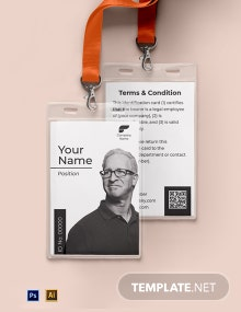 Vertical Blank ID Card Template