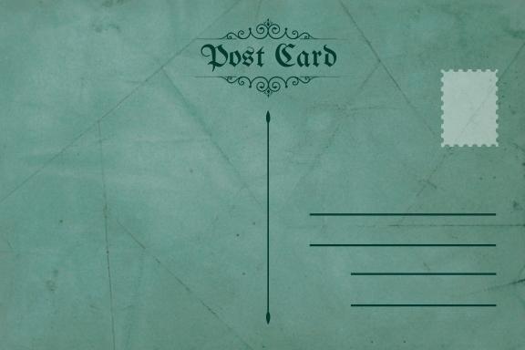 Free Classic Postcard Template.jpe