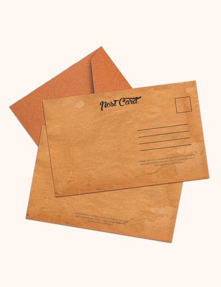 Free Plain Postcard Template