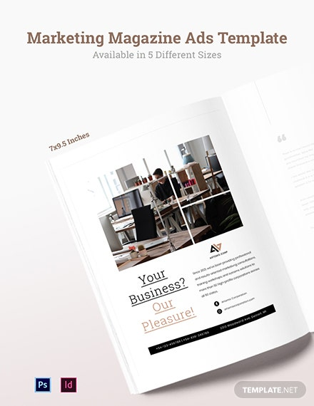 Free Marketing Magazine Ads Template