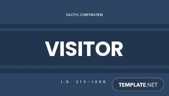 Company Visitor ID Card Template