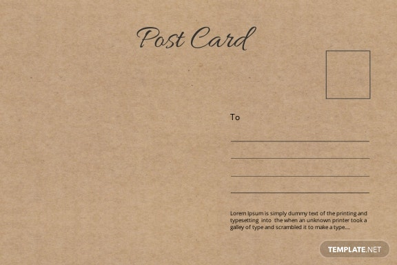 Free Retro Postcard Template