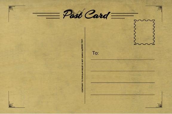Simple Postcard Template