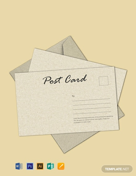Free Standard Postcard Template