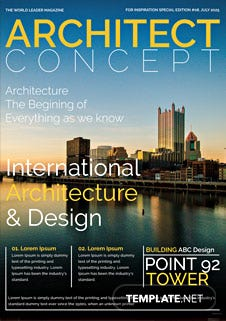 Architect Magazine Cover Page Template