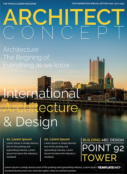 Architect Magazine Cover Page Template: Download 36+ Magazines in ...