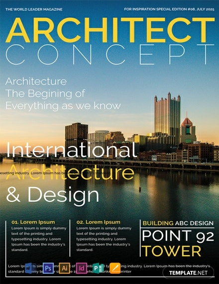 Free-Architect-Magazine-Cover-Page-Template-440x570-1 Quality Newsletter Template Free on ms publisher, girl scout, for school, preschool monthly,