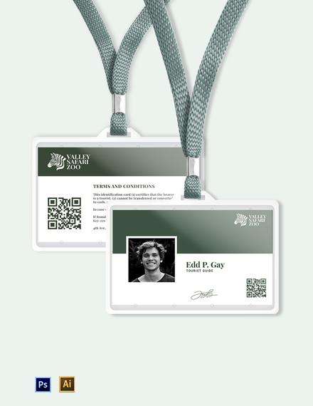Simple Zoo ID Card Template