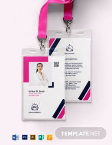 University Student ID Card Template