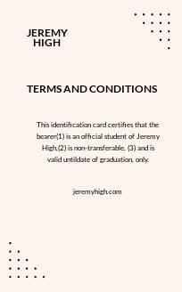 Free Simple High School ID Card Template 1.jpe