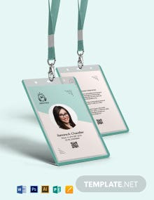 Free Simple High School ID Card Template