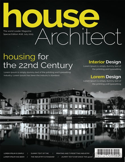 Free Architecture Magazine Cover Page Template
