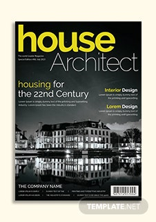 Architecture Magazine Cover Page Template