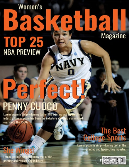 Basketball Magazine Cover Template