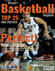 Free Basketball Magazine Cover Template