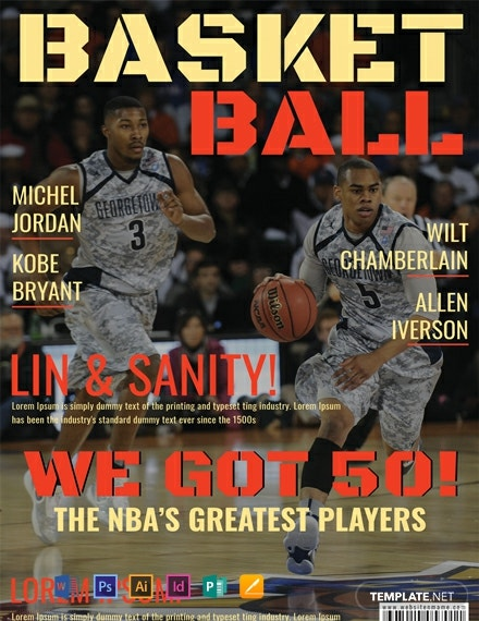 Free Basketball Player Magazine Cover Template