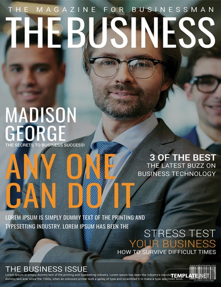 Business Magazine Cover Page Template