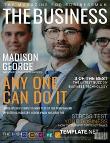 Free Business Magazine Cover Page Template
