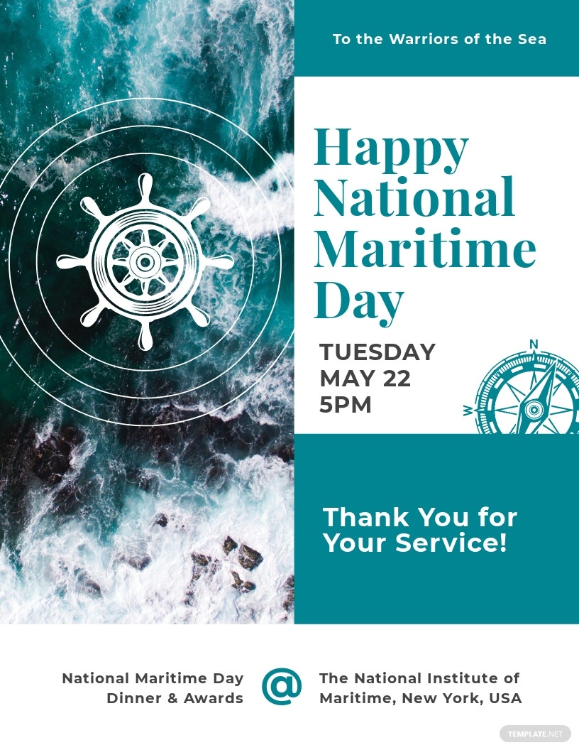 National Maritime Day Flyer Template.jpe