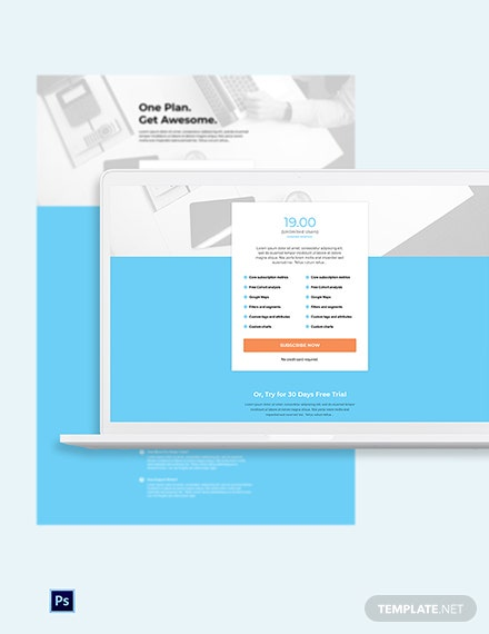 Free Annual SaaS Pricing Page Template