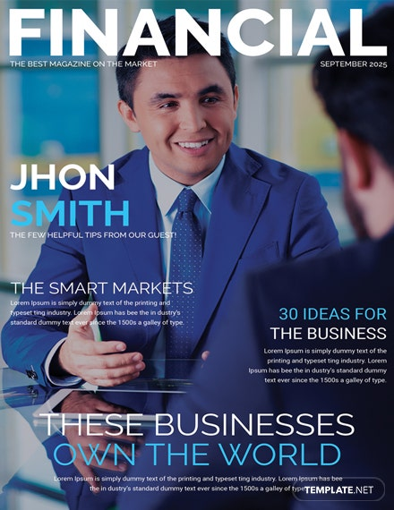 Free Financial Magazine Cover Page Template