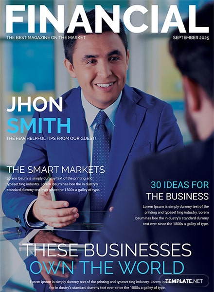 financial magazine cover page template download 36 magazines in