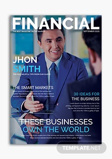 Financial Magazine Cover Page Template