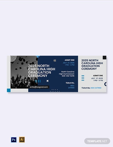 Blank Graduation Ticket Template