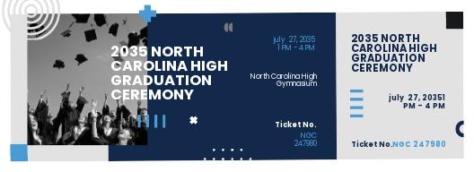 Blank Graduation Ticket Template